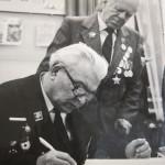 Голова київської секції ветеранів 167 сд Бондар О.Г. і секретар секції Радзієвський Г.О., 1982 р.