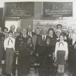 Зустріч з ветеранами біля прапору 167-ї сд у Центральному музеї Збройних Сил СРСР, Москва, 1984 р.